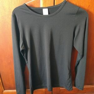 Small black cuddl duds long sleeve top